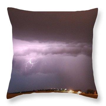 Throw Pillow featuring the photograph Late Evening Nebraska Thunderstorm by NebraskaSC