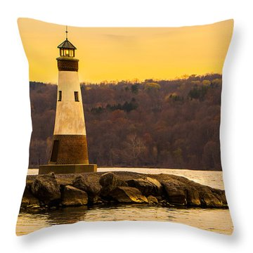 Late Fall Sunset At Myers Park Throw Pillow
