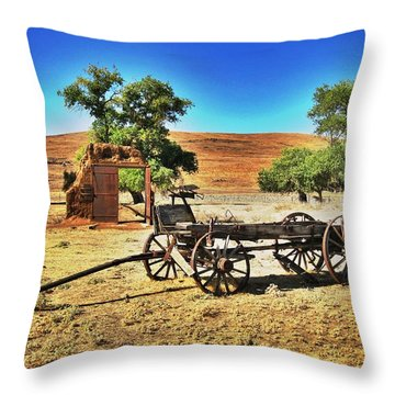 Late For Market Throw Pillow