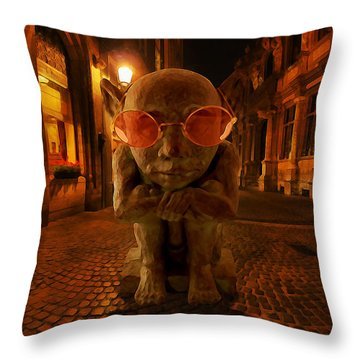 Throw Pillow featuring the digital art Late by Galen Valle