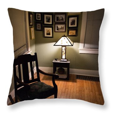 Late In The Night Throw Pillow