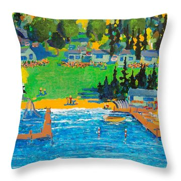 Late In The Season Throw Pillow