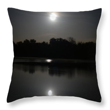 Late Night At The Lake Throw Pillow