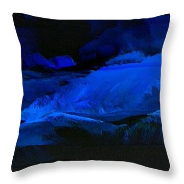 Late Night High Tide Throw Pillow by Linda Bailey