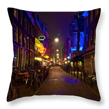 Throw Pillow featuring the photograph Late Night Neon  by Jonah  Anderson
