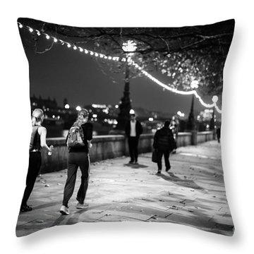Late Night Run Throw Pillow by Matt Malloy