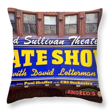 Late Show New York Throw Pillow by Valentino Visentini
