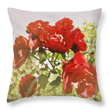 Late Summer Roses - Dreamy Throw Pillow