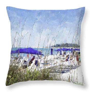 Late Winter Early Spring When Everybody Goes To Florida Throw Pillow