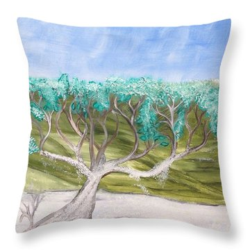 Late Winter Frost Throw Pillow