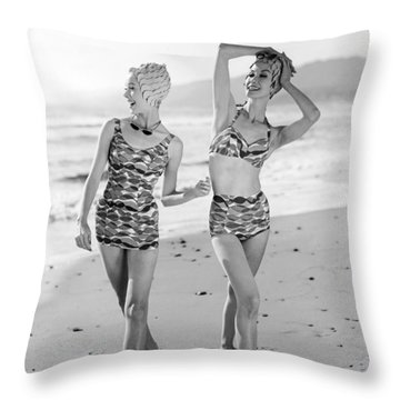 Latest Bathing Suit Fashion Throw Pillow