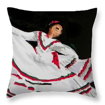 Throw Pillow featuring the painting Latin Dancer by Marisela Mungia