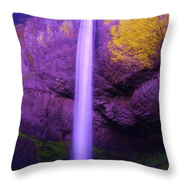 Latourall Falls Throw Pillow by Jeff Swan