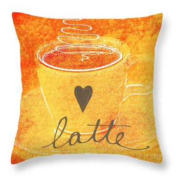 Latte Throw Pillow by Linda Woods