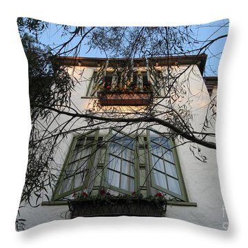 L'auberge Facade Throw Pillow