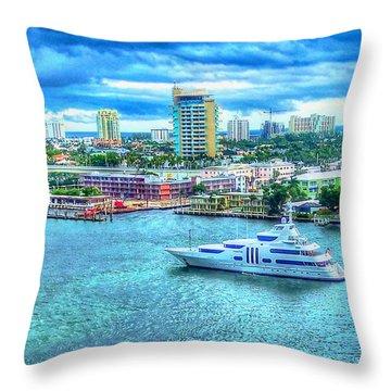 Lauderdale Throw Pillow by Debbi Granruth