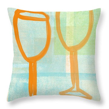 Laugh And Wine Throw Pillow