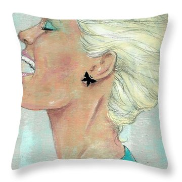 Laugh Often Throw Pillow