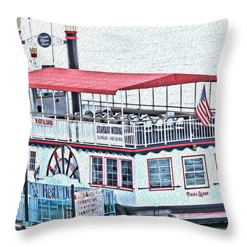 Laughlin Riverboat Throw Pillow