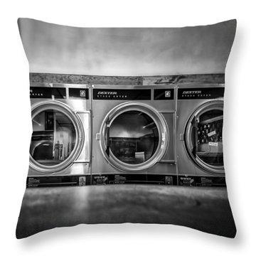 Laundromat Art Throw Pillow by Bob Orsillo