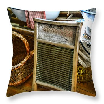 Laundry Day Throw Pillow by Paul Ward
