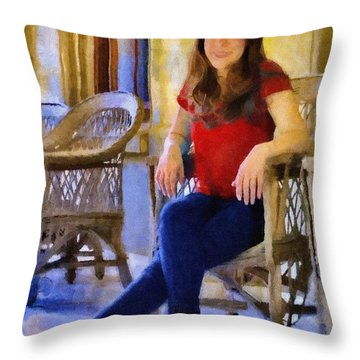 Laura Throw Pillow by Jeff Kolker