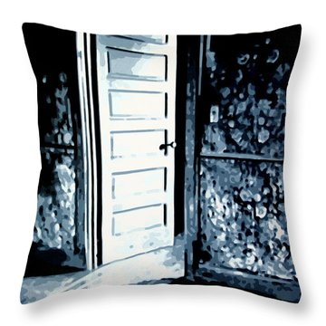 Lauras Painting Throw Pillow by Luis Ludzska