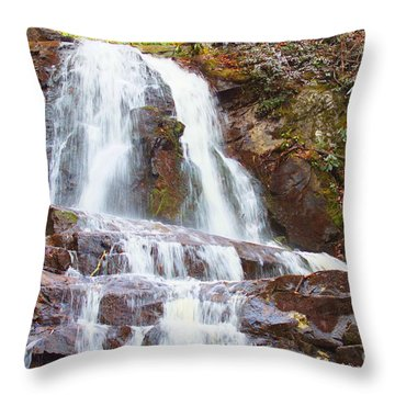 Throw Pillow featuring the photograph Laurel Falls by B Wayne Mullins