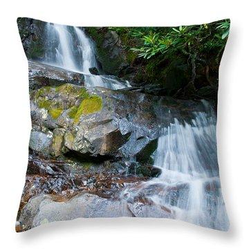 Laurel Falls Throw Pillow by Melinda Fawver