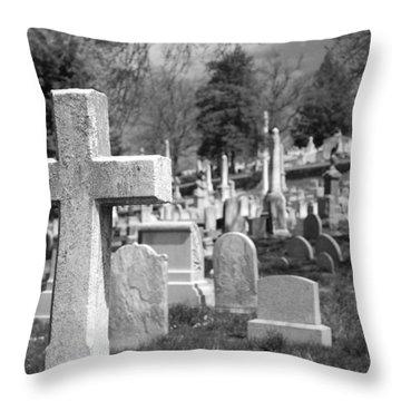 Laurel Hill Throw Pillow by Jennifer Ancker