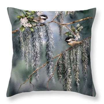 Laurel Meets Moss Throw Pillow