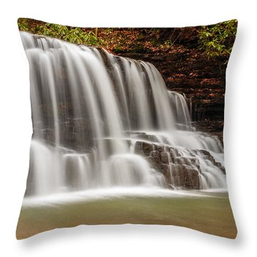 Laurel Run Falls Tn Throw Pillow