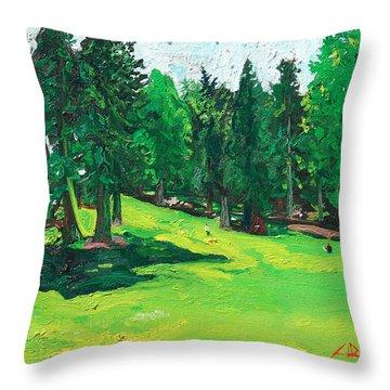 Laurelhurst Park Throw Pillow by Joseph Demaree
