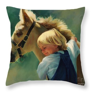 Lauren's Pony Throw Pillow
