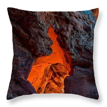 Lava Glow Throw Pillow