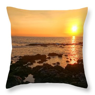 Lava Rock Beach Throw Pillow
