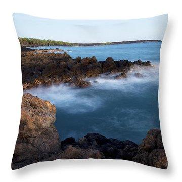 Lava Rock Shore Throw Pillow by Jenna Szerlag