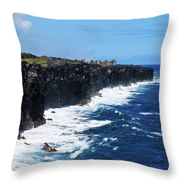 Lava Shore Throw Pillow