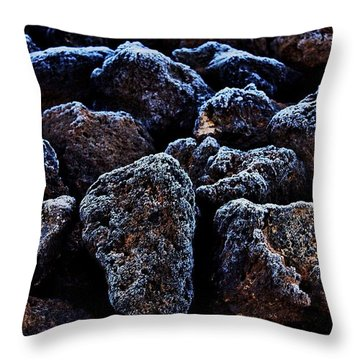 Lavafrost Throw Pillow by Benjamin Yeager