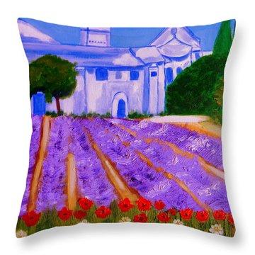 Lavande A St Paul De Mausole  St Remy De Provence Throw Pillow