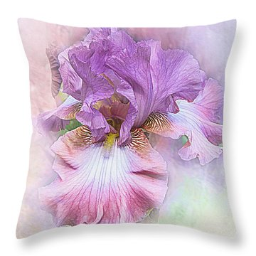 Throw Pillow featuring the digital art Lavendar Dreams by Mary Almond