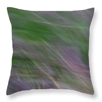 Lavendar Fields Throw Pillow