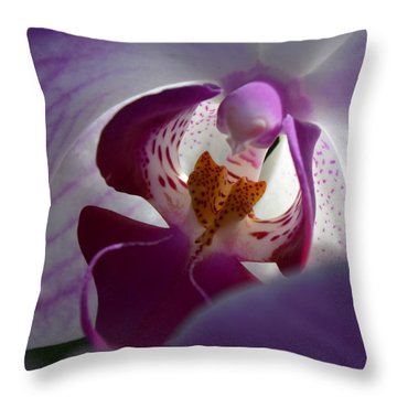 Throw Pillow featuring the photograph Lavendar World by AnnaJo Vahle
