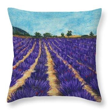 Lavender Afternoon Throw Pillow by Anastasiya Malakhova
