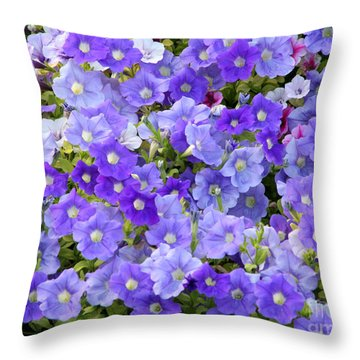 Lavender And Purple Throw Pillow by Mariarosa Rockefeller