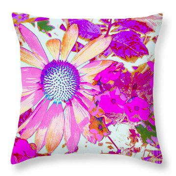 Throw Pillow featuring the photograph Lavender Echinacea by Annie Zeno