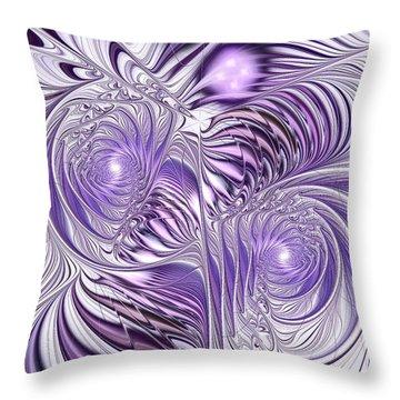 Lavender Elegance Throw Pillow by Anastasiya Malakhova