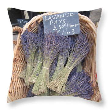 Lavender For Sale Throw Pillow by Pema Hou
