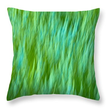 Lavender In Abstract Throw Pillow by Jonathan Nguyen