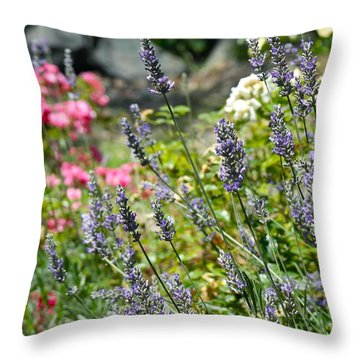 Lavender In Bloom Throw Pillow